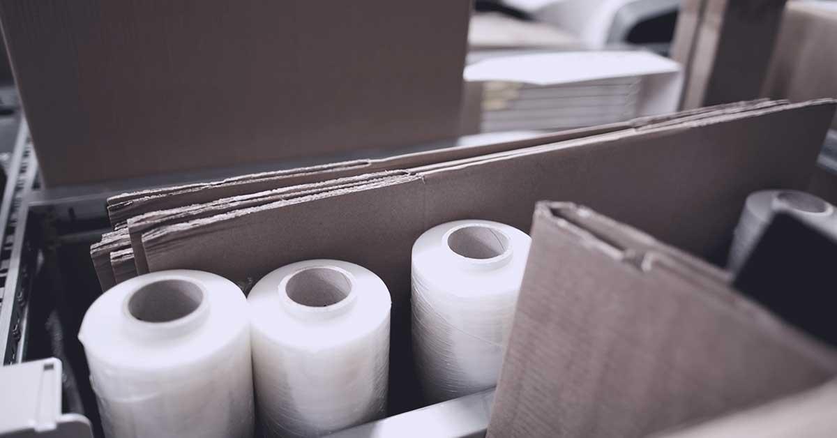immagine con materiali di imballaggio per cui va versato il contributo conai